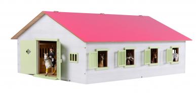 Écurie avec 7 boxes et stockage KIDS GLOBE 610189 1: 24