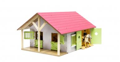 Écurie avec 2 boxes et stockage Kids Globe 610168 1:24