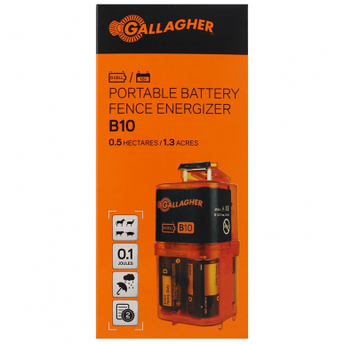 Electrificateur batterie 12V ou à piles 9V Modèle B10 (9V - 0,1 J)