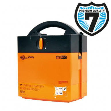 Electrificateur batterie 12V ou à piles 9V Modèle B40 (9V - 0,4 J)