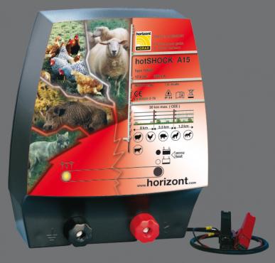 Electrificateur batterie 9/12V hotSHOCK A15 (1.6J, 10600V)