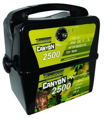 Electrificateur batterie 9V/12V Canyon 2500 GIBMAT