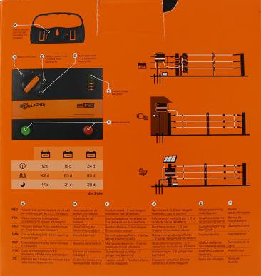Electrificateur de clôture batterie 12V Modèle B180 MultiPower (12V - 1,8 J)