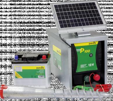 Électrificateur solaire P100 - Set complet
