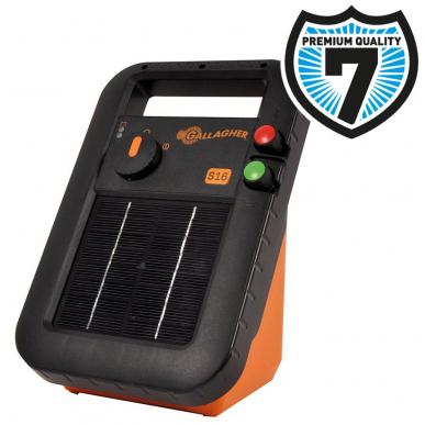 Electrificateur solaire avec batterie Modèle S16 avec batterie (6V - 0,16 J)
