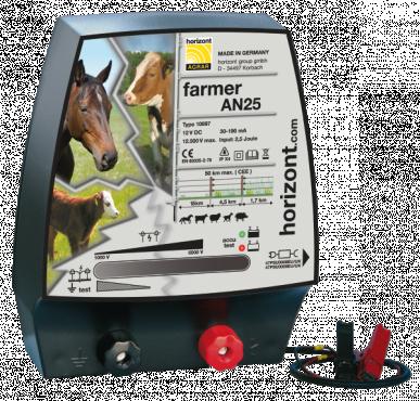 Eletcrificateur 12V farmer AN25 Dual compatible 230V (2J, 12500V)