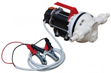 Electropompe auto-amorçante à mebrane 12/24V pour le transfert d'AdBlue, corps en matière plastique, débit 35 l / min