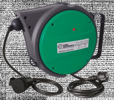Enrouleur de câble à rappel automatique P301 - 11 mètres - 3G1,5² H07RN-F - Avec prises