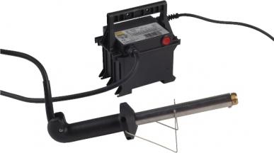 Enthornungsgerät 200W mit Trafo und Brennspitzen 14mm, 18mm