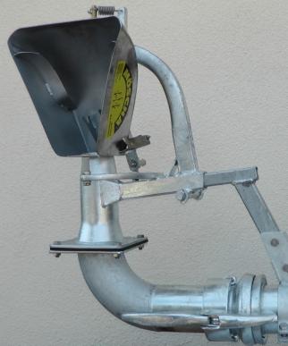 Eparpilleur pendulaire en acier inoxydable,  largeur de travail max. 18 m