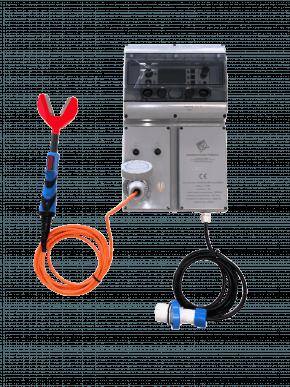 Elektro-Betäubungsgerät DIT STEL + Geflügelklemme DIT PINV