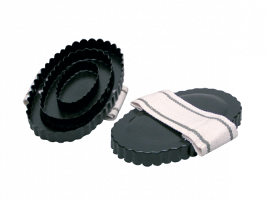 Etrille ovale métallique 16 cm