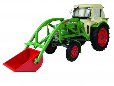 Tracteur Fendt Farmer 2 avec cabine et chargeur 1:32