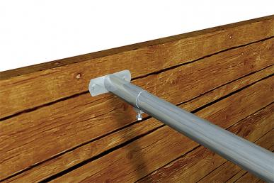 Ferrure fixe pour fixation murale de la barre garrot
