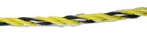 Fil hyper électriquefort jaune/noir mixte - 1000m