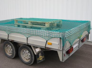 Filet de protection tressé sans nœud, 45x3 mm , dimension 2,5 x 4 m, vert