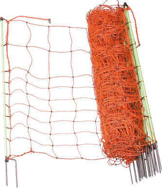 Filet électrifié protection des cultures 0,65 m hors sol, Piquet double pointe