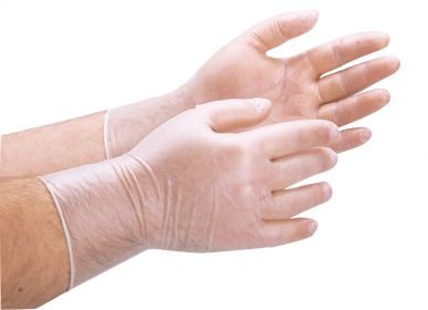 Vinyl-Handschuh Größe M - 100 Stück