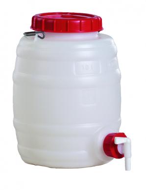 Universal-Fass rund aus PE 10 L, Getränke-, Most-, Gär-, Lagerfass