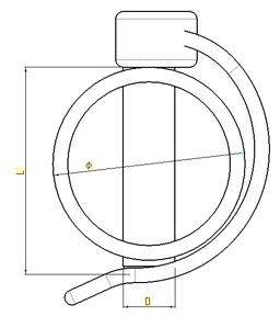 Goupille Clip Tube 8 X 60 - sachet de 5 pcs