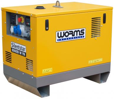 GROUPE ELECTROGENE - Série SILENTSTAR Monophasée 230V - 50 Hz - Diesel - SILENTSTAR 6000D M YN - 6 kVA
