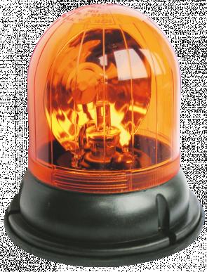 Gyrophare Tour B 12 V socle plat fixation avec 3 vis