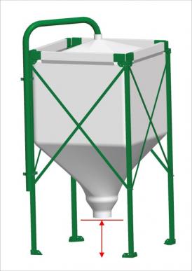 Hauteur au-dessus du sol plus haute : Silo jusqu'à 6,5 t (max. 1,2m)