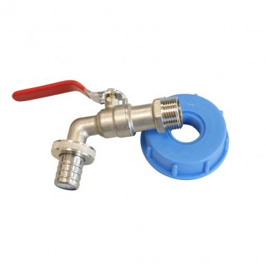 "Adaptateur IBC Adaptateur IBC avec robinet d'arrêt, S 60 x 3/4"" IG"