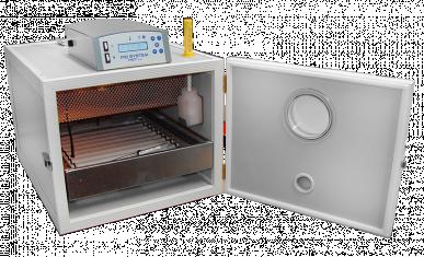 Brutmaschine Mg 50 Bird – Thermostat Lcd – automatische Eierwendung mit automatischer Befeuchtung – Aus Stahl