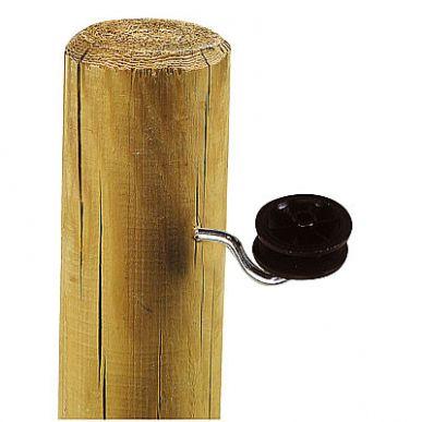 Isolateur à roulette plastique noir vis