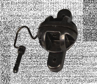 Isolateur à visser double doight type pin-lock pour clôture active et de montagne
