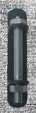 """Isolateur angle, avec vis, en acier inoxydable, à clouer ou visser pour ruban jusqu'à 40mm, """"CORNER I-40 INOX"""""""