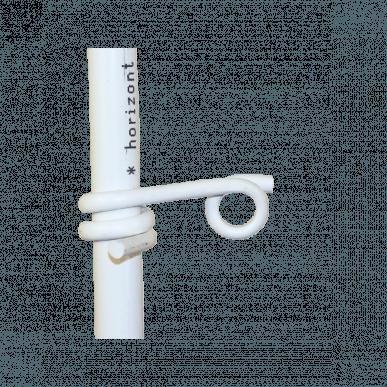 Isolateur œillet en plastique, pour piquet rond Ø 19mm, pour fils et cordelette jusqu'à 6mm