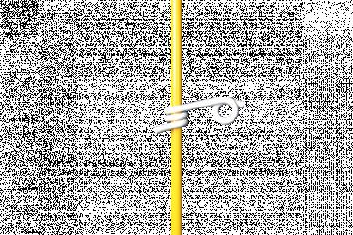 Isolateur œillet en plastique, pour piquet rond Ø12mm, pour cordelette 6mm