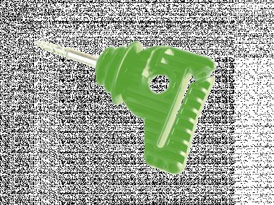 """Isolateur pour fils, cordelettes et rubans (jusqu'à 40mm) à visser """"COMBI IS-40"""", vert pomme"""