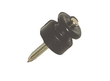 Isolateur standard à clou, pour cordelette 2mm