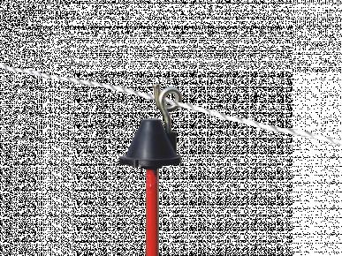 Isolateur tête, pour piquet de fer rond Ø 7mm, avec œillet en métal
