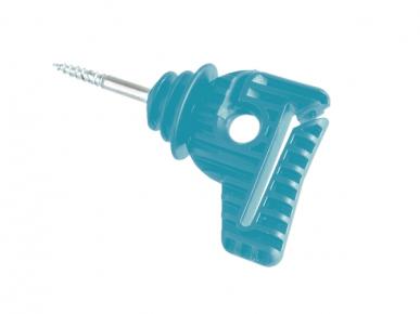 """Isolateur pour fils, cordelettes et rubans (jusqu'à 40mm) à visser """"COMBI IS-40"""", turquoise"""