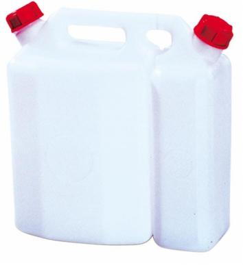 Jerricane double 1,5+3,8 Lt polyéthylène