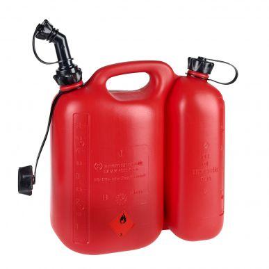 Doppel-Kraftstoffkanister, 5 l-3 l Polyethylen mit starrem Auslauf