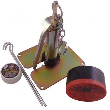 Komplettset Profi Wühlmausschussfalle top-fox® mit 50 Kartuschen, 2x Erdanker und passenden Waffenfett