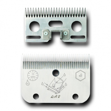 Jeu de peigne A22- pour chevaux et bovins - 35/24 dents - 0,8mm hauteur de coupe