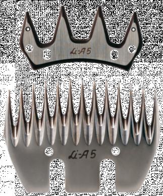 Jeu de peigne A5 pour ovins - 13/4 dents - 3 mm hauteur de coupe