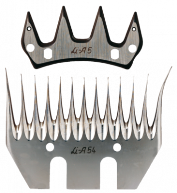 Jeu de peigne A54 pour ovins - 13/4 dents - 3 mm hauteur de coupe