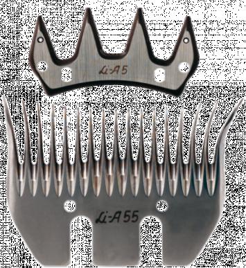 Jeu de peigne A55 pour ovins - 17/4 dents - 3 mm hauteur de coupe