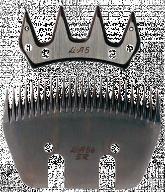 Jeu de peigne A56SR pour ovins - 25/4 dents - 3 mm hauteur de coupe