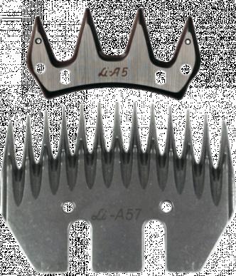 Jeu de peigne A57 pour ovins - 13/4 dents - 7-10 mm hauteur de coupe