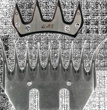 Jeu de peigne A58 pour ovins - 9/4 dents - 7-10 mm hauteur de coupe