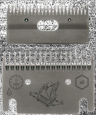 Jeu de peignes 107 - 18/23 dents - 3 mm hauteur de coupe