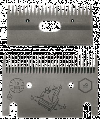 Jeu de peignes 122 - 31/23 dents - 1 mm hauteur de coupe